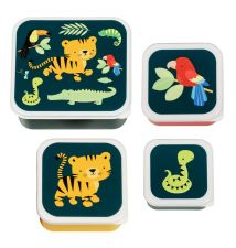 Lunch & snack box set: Jungle tiger