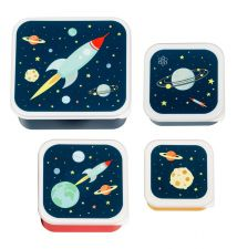 Lunch & snack box set: Space