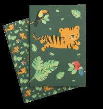 A5 notebooks: Jungle tiger