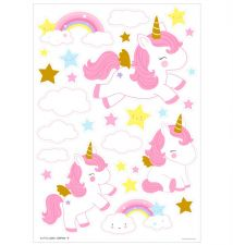 Wall sticker: Unicorn gold