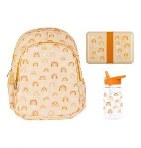 School set: Backpack - Rainbows