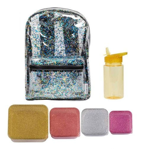 School set: Backpack - Gold blush