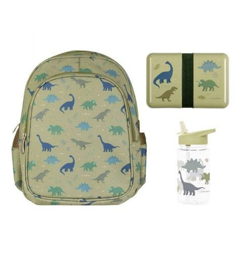 School set: Backpack - Dinosaurs