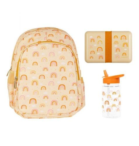School set: Backpack - Rainbows
