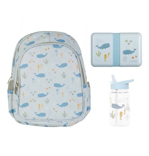 School set: Backpack - Ocean
