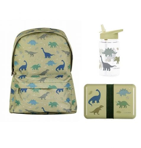 School set: Little backpack - Dinosaurs