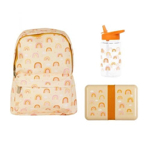 School set: Little backpack - Rainbows