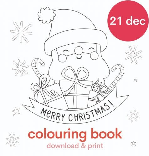 Download: Christmas colouring book