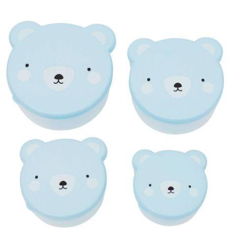 Snack box set: Bear - blue