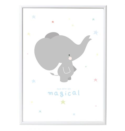 Poster: Elephant - grey
