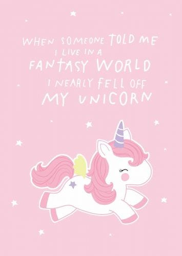 Postcard fantasy unicorn