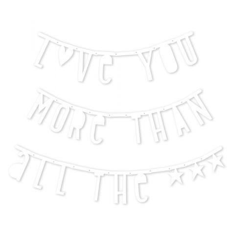 Letter banner: White