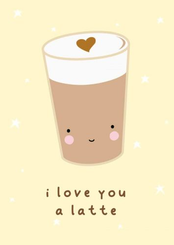 Postcard latte love