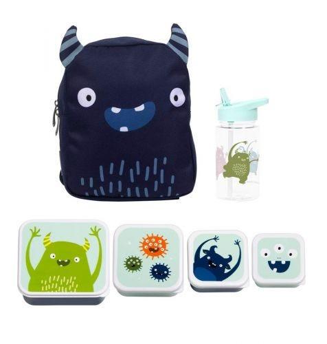 School set: Little backpack - Monster