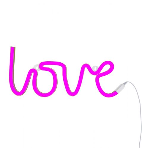 neon style light love pink on