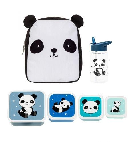 School set: Little backpack - Panda