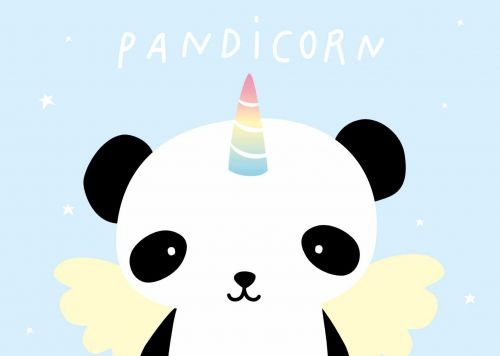 Postcard pandicorn