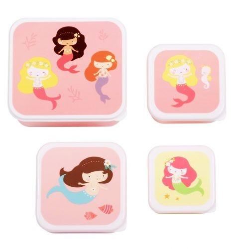Lunch & snack box set: Mermaids
