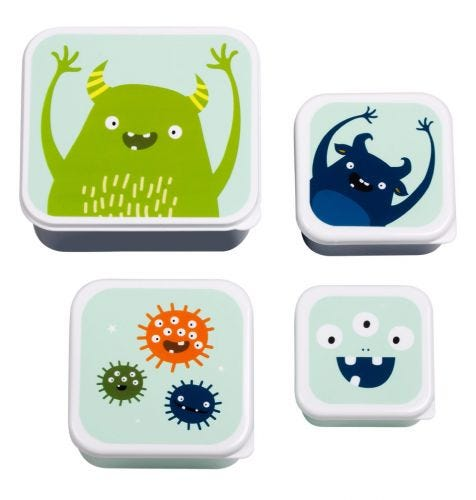 Kids lunch box set snack box containers A Little Lovely Company