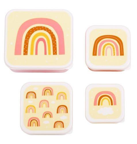 Lunch & snack box set: Rainbows