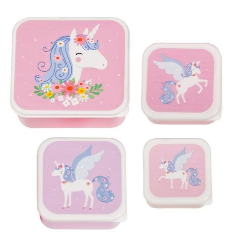 Lunch & snack box set: Unicorn