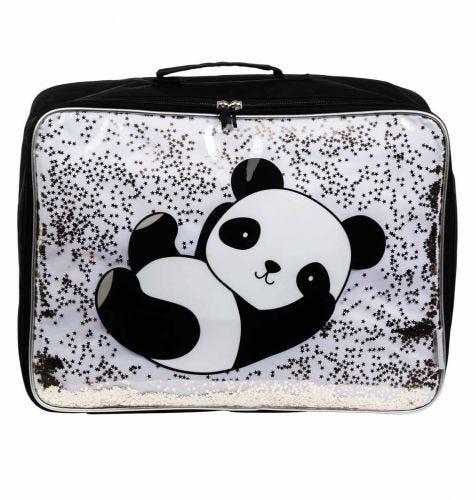 Suitcase: Glitter - panda