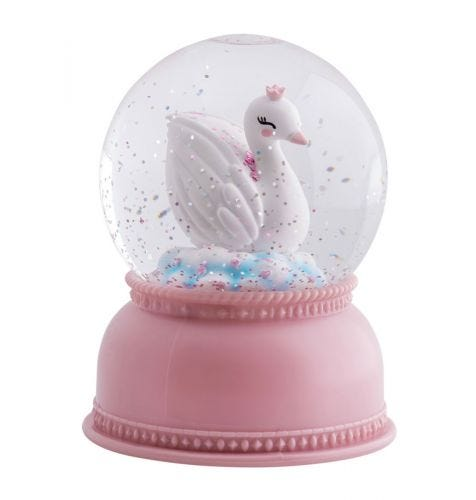snowglobe light swan
