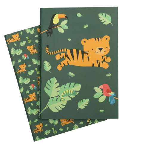 A5 notebooks: Jungle tiger