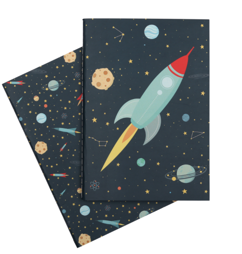 A5 notebooks space