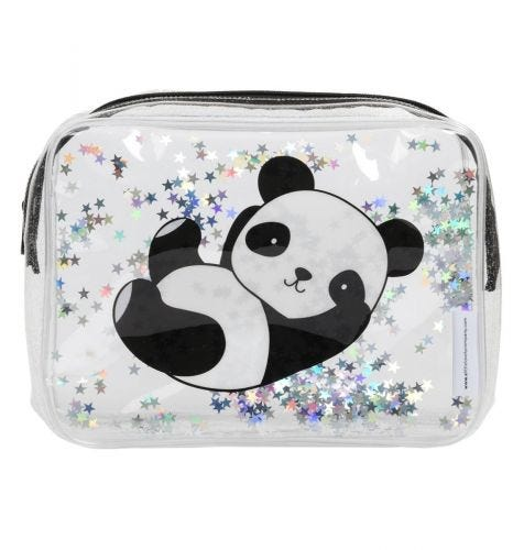 Toiletry bag: Glitter - panda