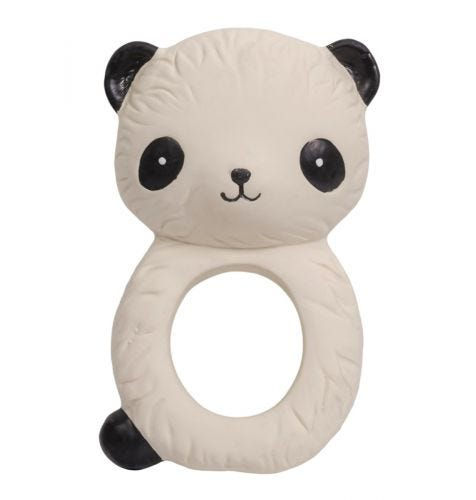 teething ring panda front view