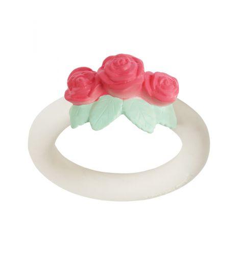 Teething ring: Rose bud