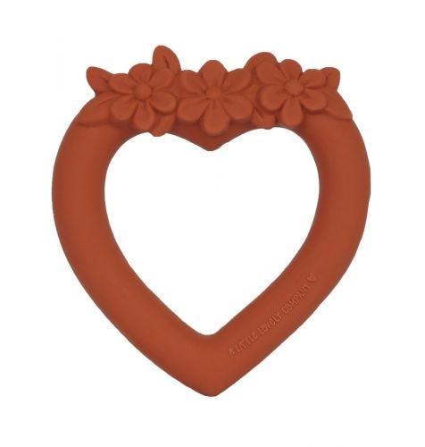 Teething ring: Sweet heart - terracotta