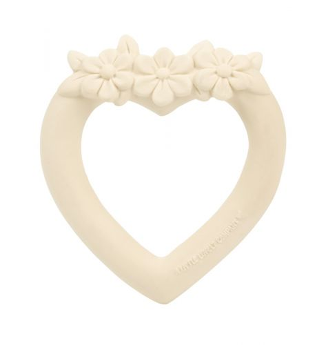 Teething ring: Sweet heart - cream
