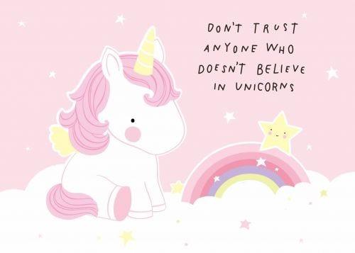 Postcard trust unicorn